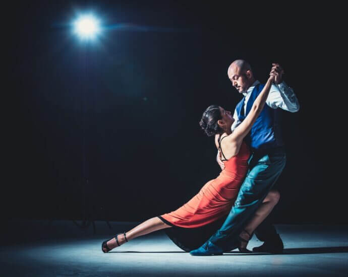 Couple dance tango