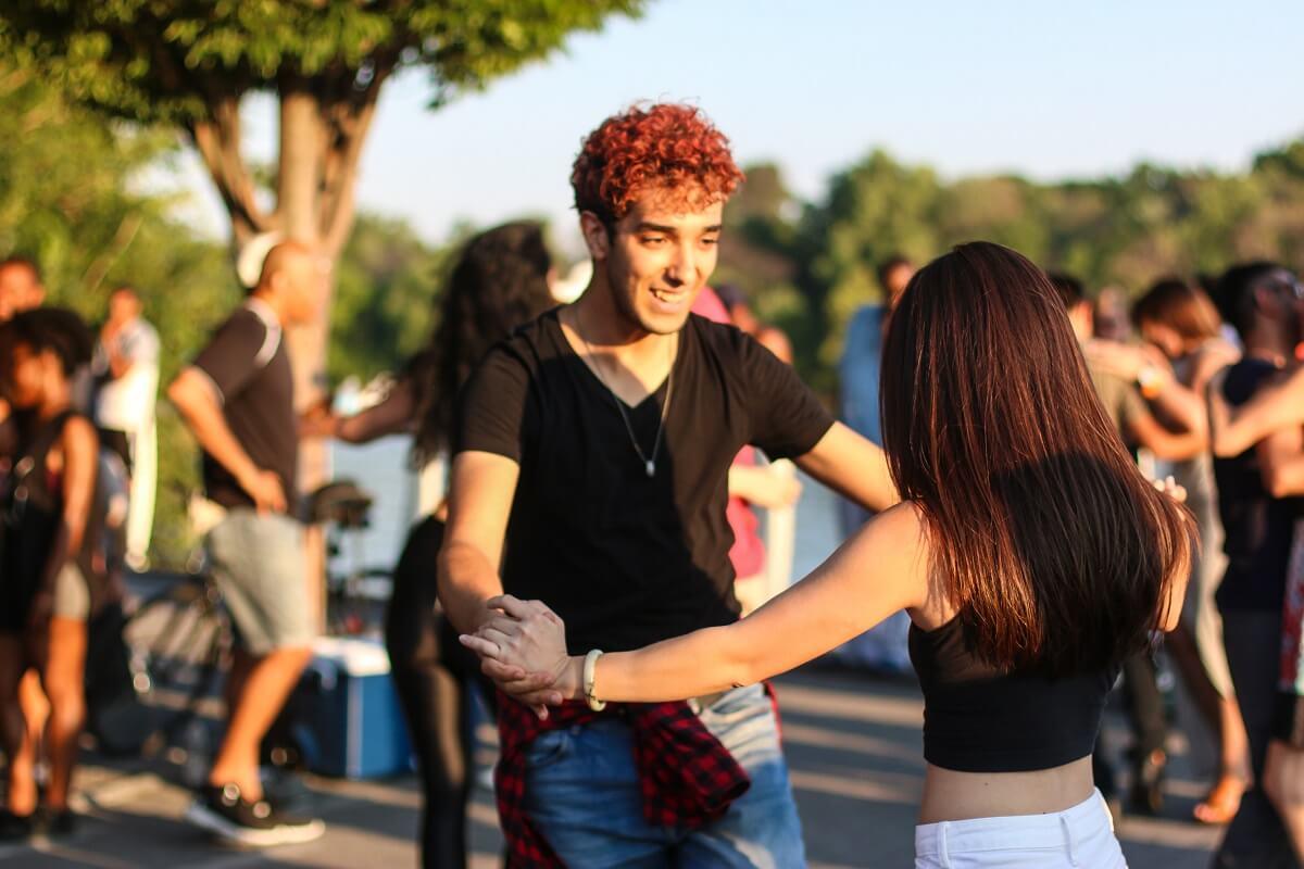 A couple dance Dominican bachata